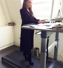 how victoria beckham embraced the desk treadmill daily mail online