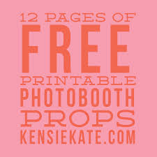 free printable photo booth props template 12 pages of free printable photobooth props kensie kate
