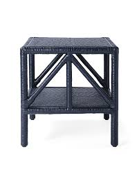 Navy Side Table Trestle Side Table Serena