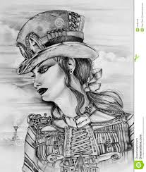 steampunk woman stock images image 34593194