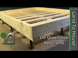 Homemade Bed Platform - queen size bed frame diy youtube small house pinterest