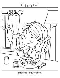 healthy habits coloring pages printable healthy eating chart