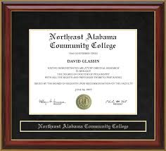 of alabama diploma frame northeast alabama community college nacc mahogany diploma frame