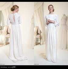 simple long sleeve wedding dresses beach wedding dress