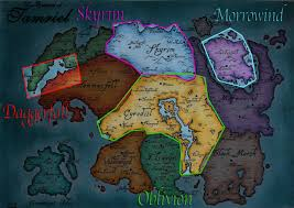 Elder Scrolls Map The Elder Scrolls