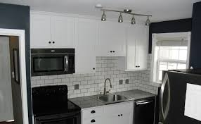 backsplash for black and white kitchen kitchen striking narrow space kitchen with black and white