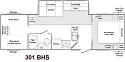 2006 keystone cougar floor plans used 2006 keystone rv cougar 301bhs travel trailer at cers inn