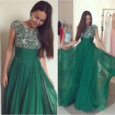 formal gowns green prom dresses silver beadings evening gowns modest formal