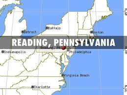 Reading Pennsylvania Map by The Reader By David Schultz