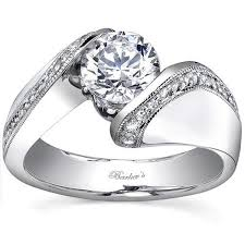 tension engagement rings barkev s 14k bypass tension set engagement ring