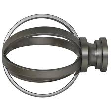 Curtain Rod Finials Lowes Shop Allen Roth Brushed Pewter Steel Curtain Rod Finials At
