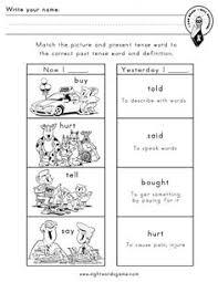 writing with irregular verbs worksheet worksheets pinterest