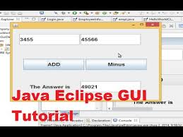 tutorial android using eclipse java eclipse gui tutorial 1 creating first gui project in eclipse