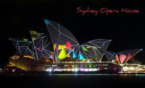 modern sydney opera house night neon desktop background images