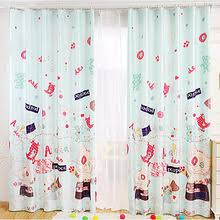 Green Kids Curtains Cute Animal Pattern Light Green Poly Cotton Privacy Kids Room Curtains