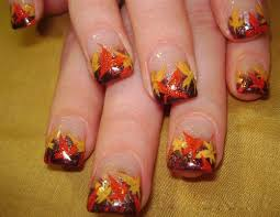 9 easy thanksgiving nail designs with images style at