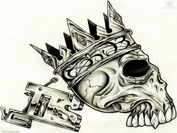skull tattoo images free king crown skull tattoo design picture 14482 things i love