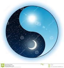 sun and moon in yin yang symbol stock vector illustration of