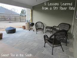Where To Buy Patio Pavers by 5 Lessons Learned From A Diy Paver Patio Sweet Tea In The South