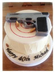 sugarpaste handgun cake topper by sweet treats wexford www