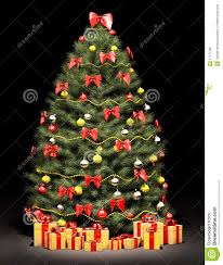 christmas tree over the black 3d royalty free stock image image