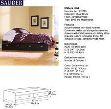 Shoal Creek Bedroom Furniture Sauder Shoal Creek Jamocha Wood Mate U0027s Twin Bed At Menards