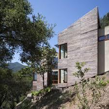 modern house built into hillside house modern