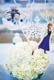 frozen centerpieces let it go frozen birthday party childhood cancer awareness