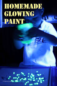 how to use black light paint homemade glowing paint learn play imagine