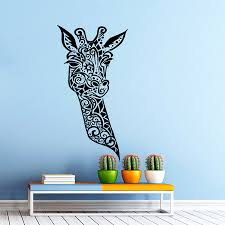 aliexpress com buy giraffe vinyl wall decal giraffe animals
