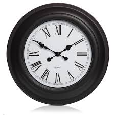 wilko giant station clock black at wilko com