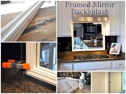 Framed Mirror Backsplash Cleverly Inspired - Mirror backsplash