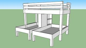 large preview of 3d model of triple bunk bed u2026 pinteres u2026