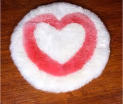 Ikea Round Rug Online Shop Wonderfur Rd1018 Genuine Round Pink Heart Sheepskin