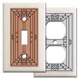 craftsman style light switches designer craftsman style switch plates outlet covers made in usa