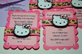 hello kitty leopard invitations jingvitations