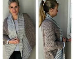 free crochet patterns for sweaters oversized shrug crochet pattern with ribbed shawl collar
