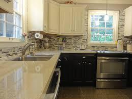kitchen brown white wooden cabinet with storage having glass