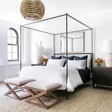 Black Canopy Bed Gold Rectangular Mirror Black Canopy Bed B E D R O O M
