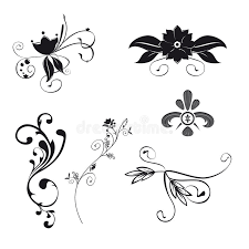 floral ornaments vector royalty free stock photos image 5427988