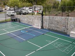 multisport court backyardcourt backyard basketball hopskotch