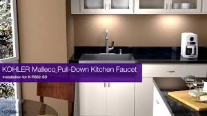 kohler sensate kitchen faucet installation malleco pull down kitchen faucet youtube