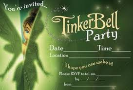 free printable tinkerbell tinker bell birthday party invitations