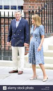carole middleton and michael middleton leave the lindo wing at st