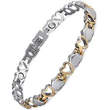 heart health bracelet images Rainso titanium heart design magnetic health bracelet for women jpg