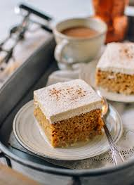 pumpkin tres leches cake with spiced cream the woks of life