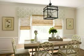 dining room blinds dining room using lantern over dining table and valance also