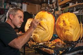 spectacularly spooky pumpkin artist jon neill orange coast