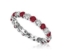 ruby band ruby diamond eternity band ruby diamond eternity band