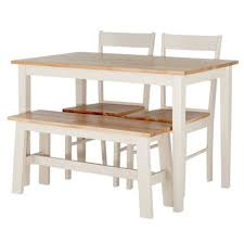 Homebase Bistro Table Chicago Two Tone Dining Table Bench And 2 Chairs At Homebase
